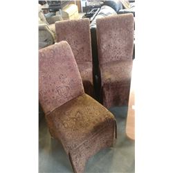 THREE DESIGNER UPOLSTERED CHAIRS