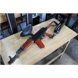 AK47 PAINTBALL GUN WITH CO2 TANK