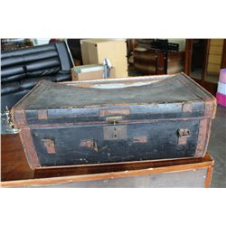 LEATHER TRUNK AS IS