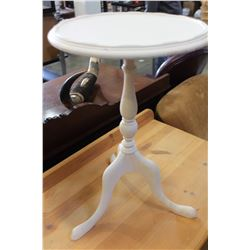 WHITE PAINTED PARLOUR TABLE