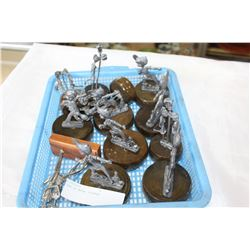 TRAY OF METAL FIGURES