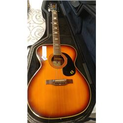 1960 PAN ACOUSTIC GUITAR, MADE IN JAPAN AND TRIC CANADA HARD CASE CASE