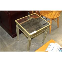 NEW HOME ELEGANCE MIRRORED END TABLE