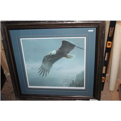 ON THE WING BALD EAGLE BY ROBERT BATEMAN #20702