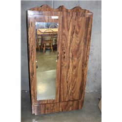 ROLLING WARDROBE WITH MIRROR