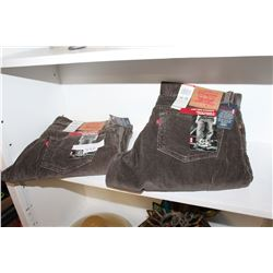 2 PAIRS OF NEW LEVI PANTS 34 32