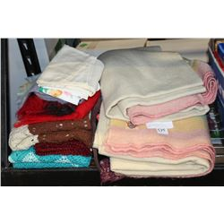 TWO ANTIQUE AYERS WOOL BLANKETS AND OTHER ESTATE ITEMS