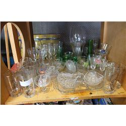 SHELF OF ESTATE GLASSWARES