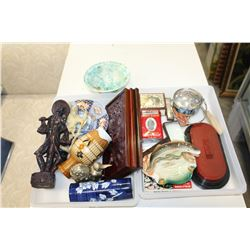 TWO TRAYS OF COLLECTIBLES