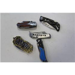 BAG OF ORNATE KNIVES