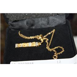 TWO TONE STERLING AND 18K GOLD FILLED PENDANT NECKLACE