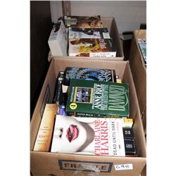 TWO BOXES OF PAPER BACK NOVELS