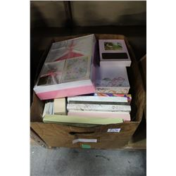 LOT OF GIFT WRAP AND STATIONARY