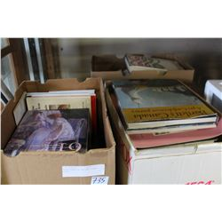 THREE BOXES OF ART AND OTHER BOOKS