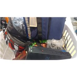 TOTE OF GREEN ADIDAS SHOES PS2 AND ESTATE GOODS