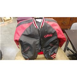 LARGE LEATHER WEATHER GEAR CANADA JACKET