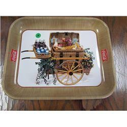 Coca Cola Tray Picnic Wagon Brown