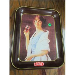 Coca Cola Flapper Girl 1920s Repro tray