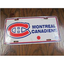 Montreal Canadian Front License Plate