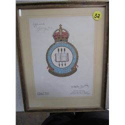 Royal Canadian Air Force Picture (approved George RI) 10.5x8.5
