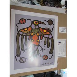 """Norval Morrisseau Limited Edition Unframed Print """"Sacred Thunderbird"""" 20x24"""