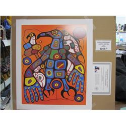"""Norval Morrisseau Limited Edition Unframed Print """"Man Changing into Thunderbird""""20x24"""