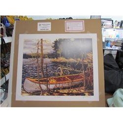 "Tom Thomson Limited Edition Unframed Print""The Canoe""20x24"