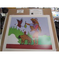 """Norval Morrisseau Limited Edition Unframed print """"The Bear Claw""""20x24"""