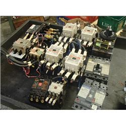 MISCELLANEOUS ELECTRONICS LOT!! POWER SUPPIES, CIRCUIT  BREAKERS, CONTACTORS AND MORE!!