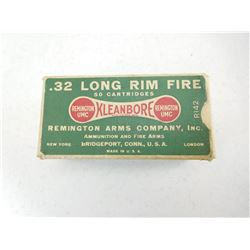 REMINGTON .32 LONG R.F. AMMO