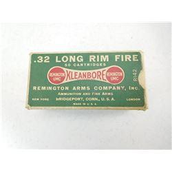REMINGTON .32 LONG R.F. AMMO