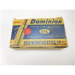 DOMINION 358 WINCHESTER AMMO