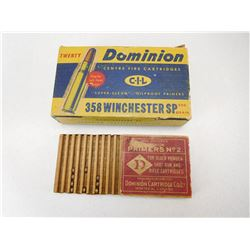 DOMINION 358 WINCHESTER AMMO & PRIMERS