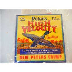 PETERS HIGH VELOCITY 12 GA AMMO