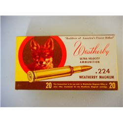 WEATHERBY.224 WEATHERBY MAGNUM AMMO