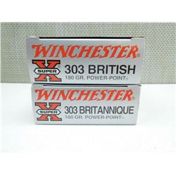 WINCHESTER 303 BRITISH AMMO