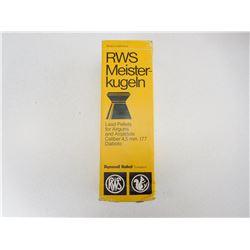 RWS .177 CAL PELLETS