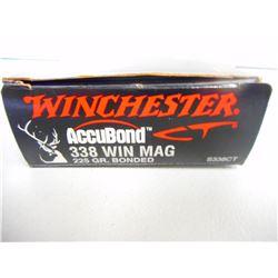 WINCHESTER ACCUBOND  .338 WIN MAG AMMO