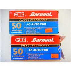 BARNAUL 45 AUTO AMMO