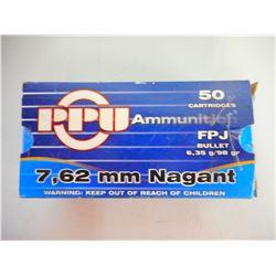 PPU 7.62 MM NAGANT AMMO