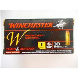 WINCHESTER .38 SPL AMMO