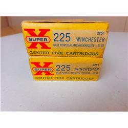 WINCHESTER 225 RELOADS & BRASS