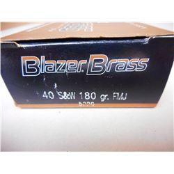 BLAZER BRASS 40 S&W AMMO