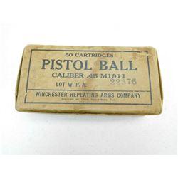 PISTOL BALL CAL .45 M1911 AMMO