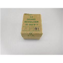 ".455"" REVOLVER MK II AMMO"