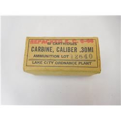CARBINE .30MI AMMO