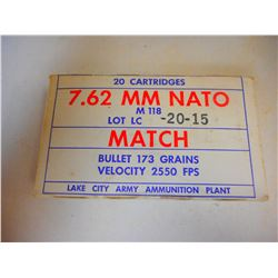 LAKE CITY 7.62 MM NATO AMMO