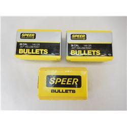 SPEER .38 CAL BULLETS