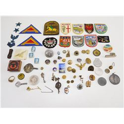 ASSORTED INTERNATIONAL PINS & BADGES