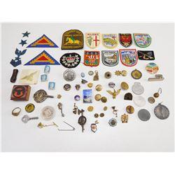 ASSORTED INTERNATIONAL PINS & BADGES